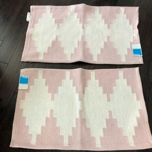 Pair of pink rugs